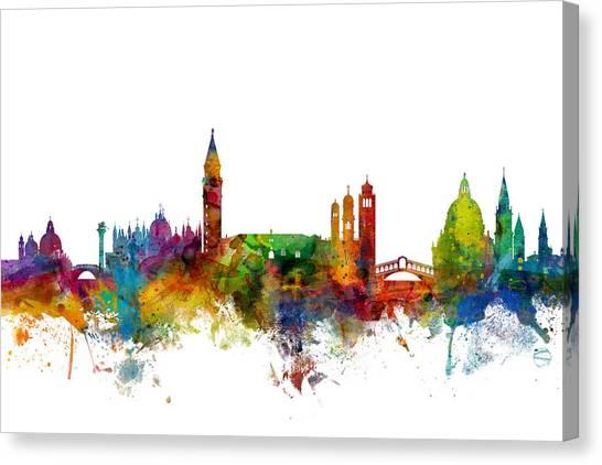 Italian Canvas Print - Venice Italy Skyline by Michael Tompsett