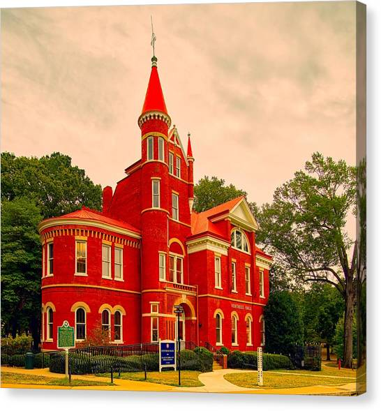 University Of Mississippi Ole Miss Canvas Print - Ventress Hall - Ole Miss by Library Of Congress
