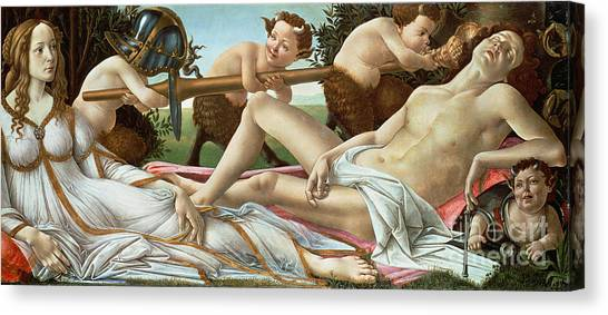 Botticelli Canvas Print - Venus And Mars by Sandro Botticelli