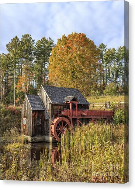 Grist Canvas Print - Vermont Grist Mill by Edward Fielding