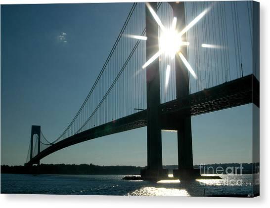 Verrazano Bridge Starburst Canvas Print