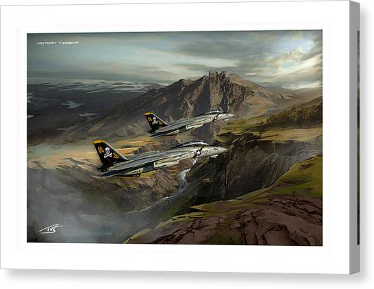 Iraq Canvas Print - Victory Twoship by Peter Van Stigt