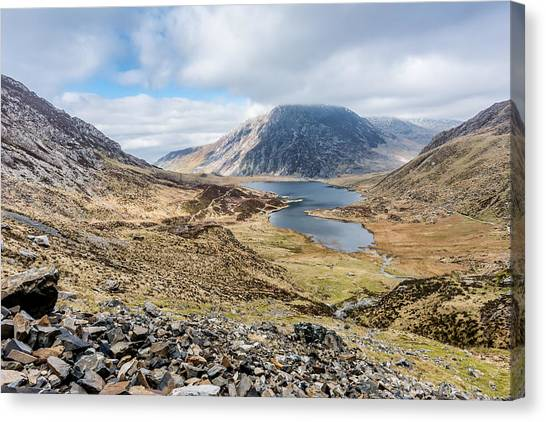Canvas Print featuring the photograph View From Glyder Fawr by Nick Bywater