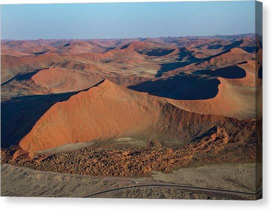 Namib Desert Canvas Print - View Of A Desert, Sossusvlei, Namib by Panoramic Images