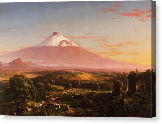 Mount Etna Canvas Print - View Of Mount Etna by Thomas Cole