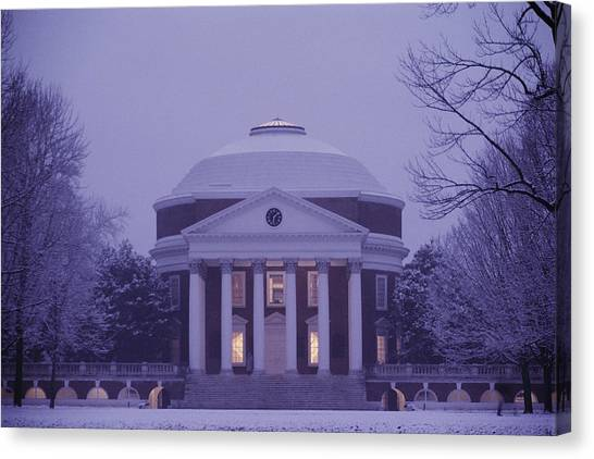 University Of Virginia Canvas Print - View Of The University Of Virginias by Kenneth Garrett