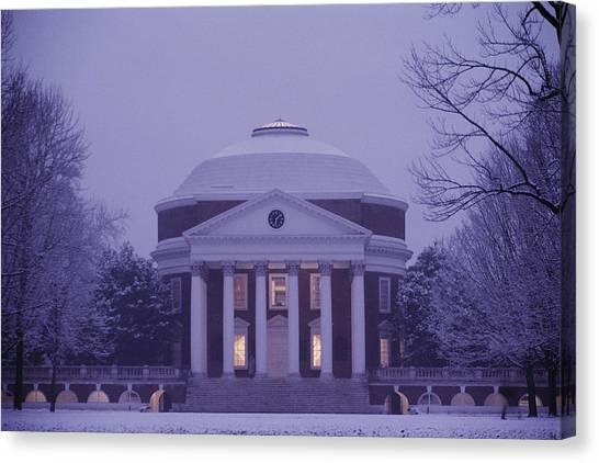 University Of Virginia Canvas Print - View Of The University Of Virginias by Kenneth Garrett