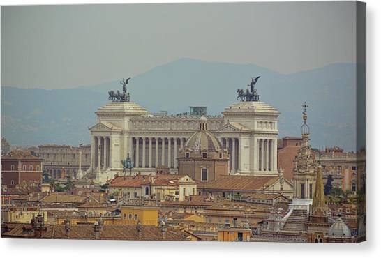 View Of Vittoriano Canvas Print by JAMART Photography