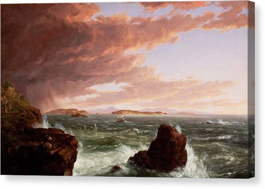 Etretat Canvas Print - Views Across Frenchman's Bay From Mt. Desert Island, After A Squall by Thomas Cole
