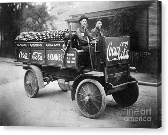 Pepsi Canvas Print - Vintage Coke Delivery Truck by Jon Neidert