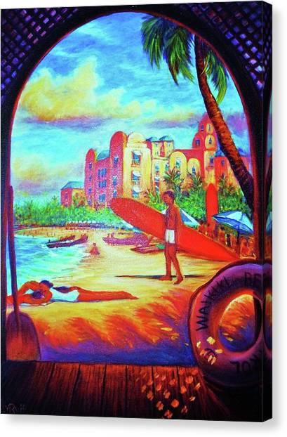 Vintage Royal Hawaiian Canvas Print