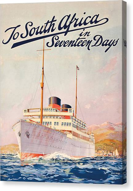 e64238f638 South Africa Poster Canvas Print - Vintage Travel Poster Advertising A  Cruise To South Africa by