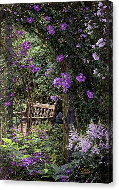 Violet Garden Respite Canvas Print