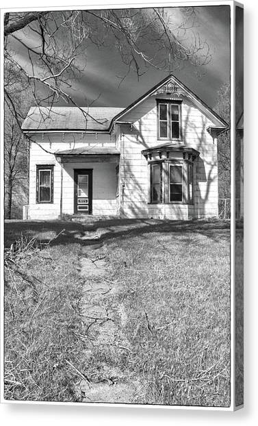 Visiting The Old Homestead Canvas Print