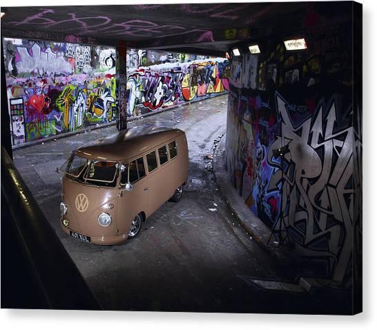 Microbus Canvas Print - Volkswagen Microbus by Mariel Mcmeeking