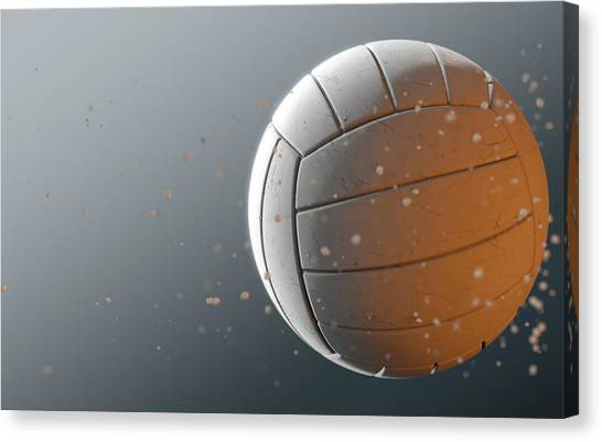 Volleyball Canvas Print - Volleyball In Flight by Allan Swart