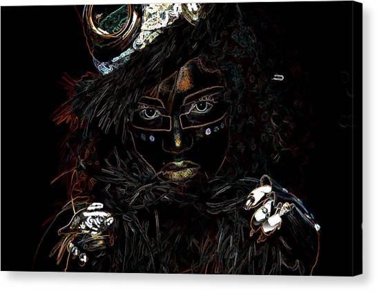 Voodoo Woman Canvas Print