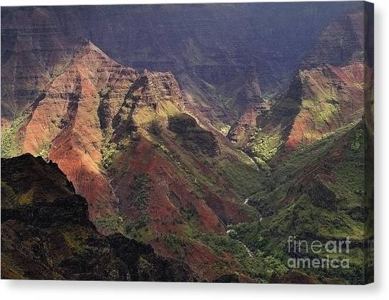Waimea Canyon Canvas Print by Neil Doren