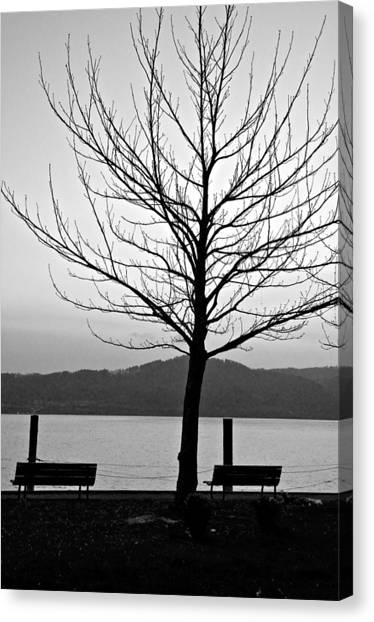 Waiting For The Sun Canvas Print by Richard Pierce