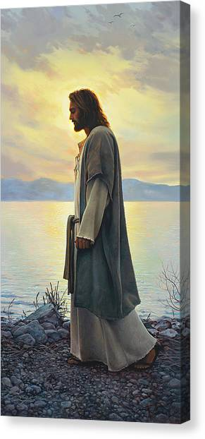 Sea Canvas Print - Walk With Me  by Greg Olsen