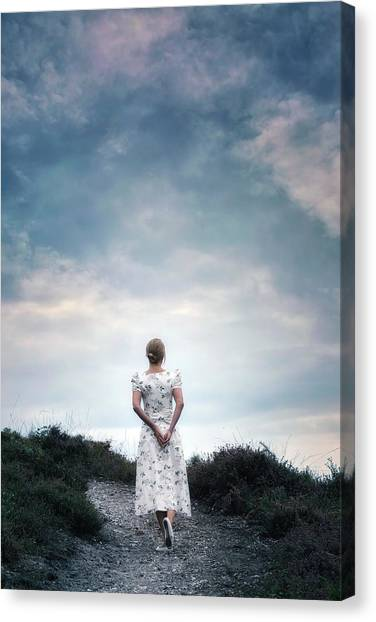 Heather Canvas Print - Walking In The Heather by Joana Kruse