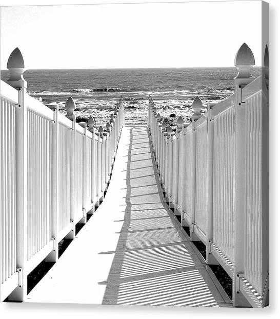 Walkway To Beach Canvas Print