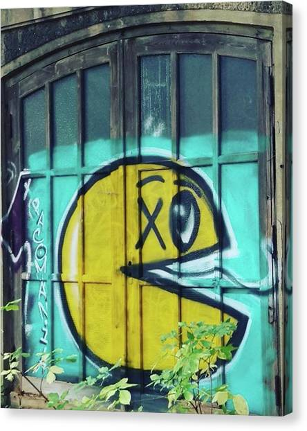 Atari Canvas Print - #walls #berlin #friedrichshain #treptow by Sascha Mueller