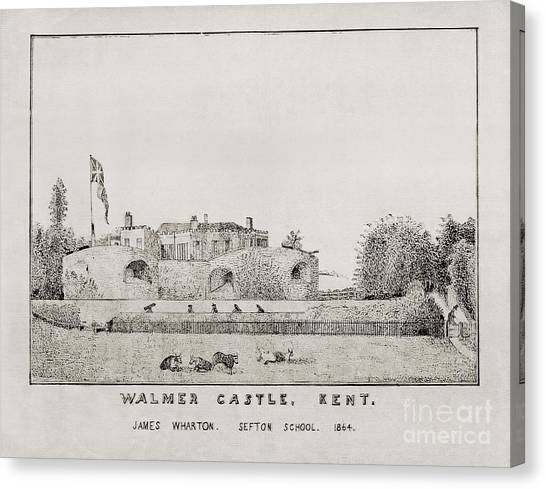 Walmer Castle Kent Canvas Print
