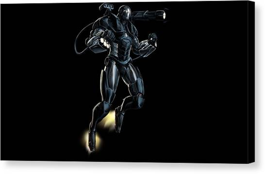 Biology Canvas Print - War Machine by Super Lovely