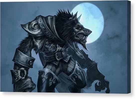 Iguanas Canvas Print - Warcraft by Maye Loeser
