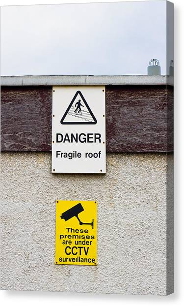 Big Brother Canvas Print - Warning Signs by Tom Gowanlock