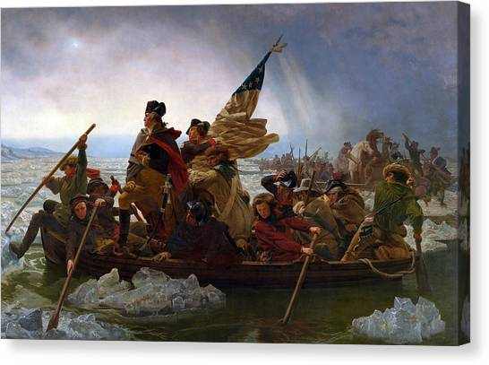 Washington Canvas Print - Washington Crossing The Delaware by Emanuel Leutze
