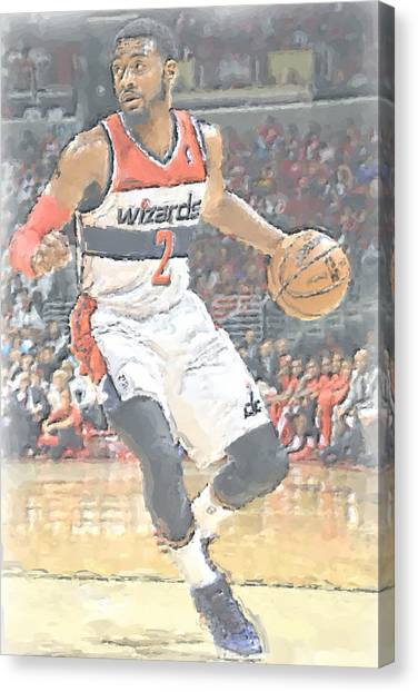 Washington Wizards Canvas Print - Washington Wizards John Wall by Joe Hamilton