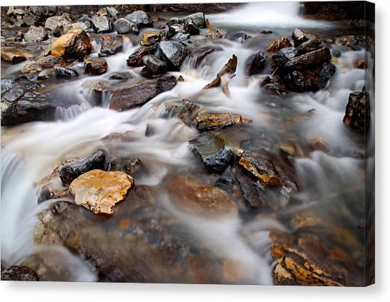 Water On The Rocks Canvas Print