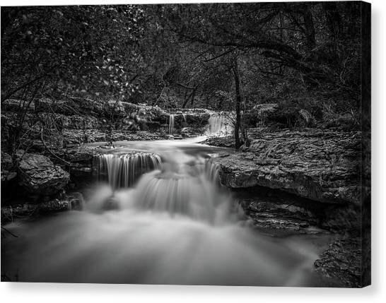 Waterfall In Austin Texas Canvas Print
