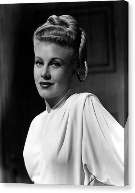 1945 Movies Canvas Print - Weekend At The Waldorf, Ginger Rogers by Everett