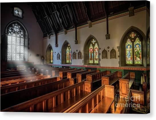 Aisle Canvas Print - Welsh Church by Adrian Evans