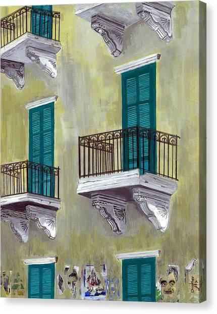 West Beirut Terraces Canvas Print