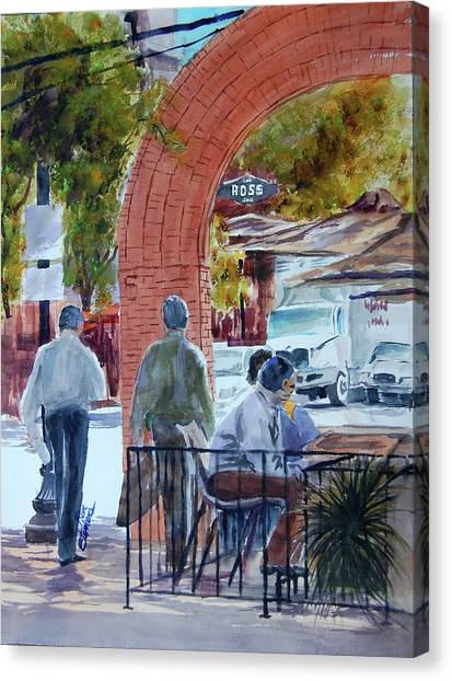 West End Arch At Ross Canvas Print