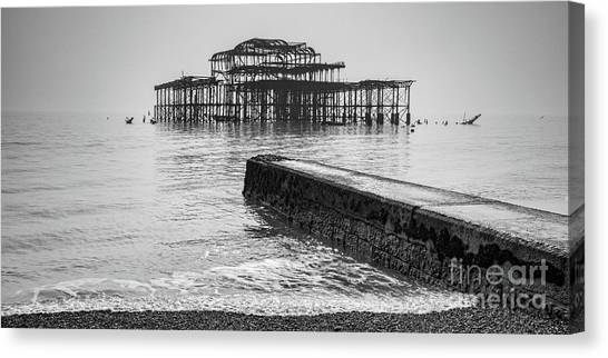 West Pier At Brighton Canvas Print by Colin and Linda McKie