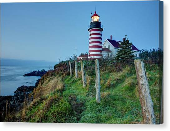 West Quoddy Head Light Canvas Print