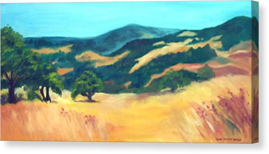 Western Hills Canvas Print by Anne Trotter Hodge