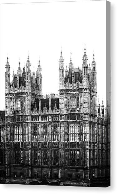 Palace Of Westminster Canvas Print - Westminster - London by Joana Kruse