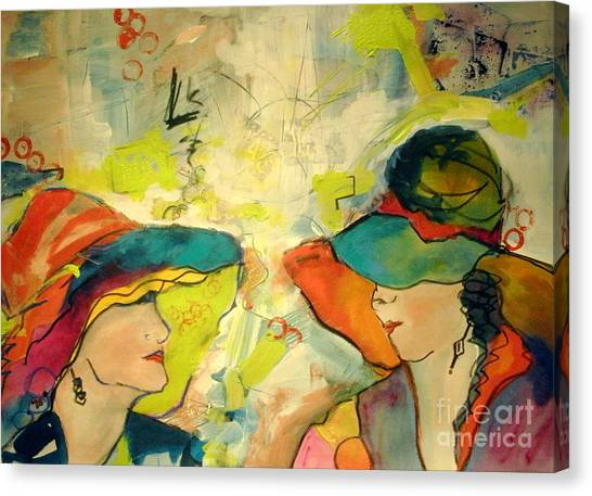 Canvas Print - What Is Said Here Stays Here by Jane Ferguson