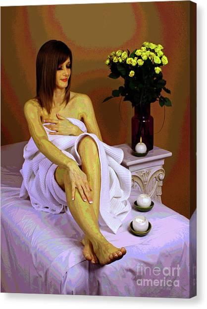 White Comfort Canvas Print
