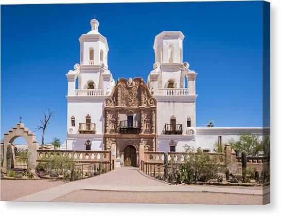 Father Kino Canvas Print - White Dove Of The Desert - Tucson Arizona by Jon Berghoff