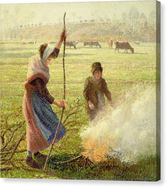 Camille Canvas Print - White Frost by Camille Pissarro