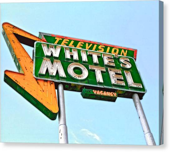 White's Motel Canvas Print