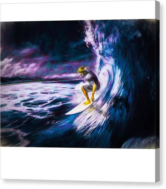 Reef Sharks Canvas Print - Who Likes To #surf. #surfing Is #fun by David Haskett