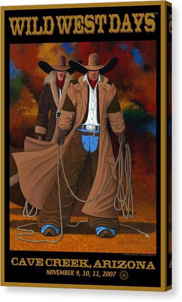 Lance Headlee Canvas Print - Wild West Days Poster/print  by Lance Headlee